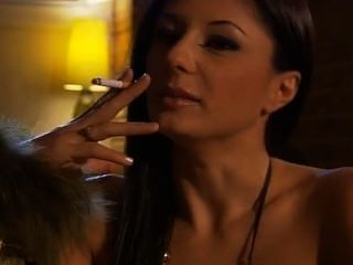 Smoking Italian Hot Brunette
