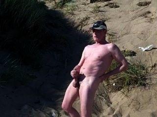 Scottish Exhibitionist On The Beach