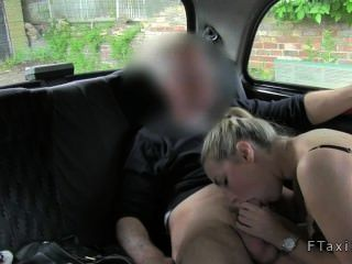 Blonde Fucks Taxi Driver Until He Cums On Her Breasts
