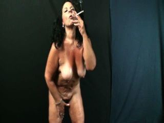 Slut Granny Smoking And Dancing For You