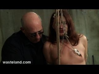 Dungeon Bdsm Sex Master Ties Pretty Sub To Bambo And Torments Her Pussy