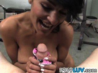 Big Tits Babe Persia Pele Gives Hot Blowjob