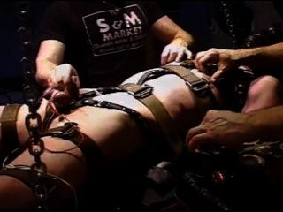 Extreme Electro Suspended In Restraints.