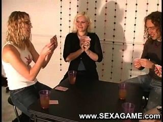 Hot Students Playing Strip Poker