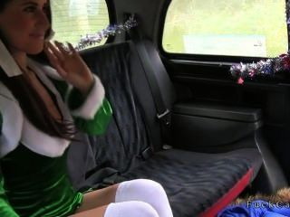 Busty Amateur In Elf Suite Fucked In Cab