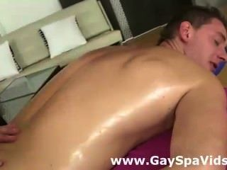 Gay Guy Given Oily Massage By Naked Masseur