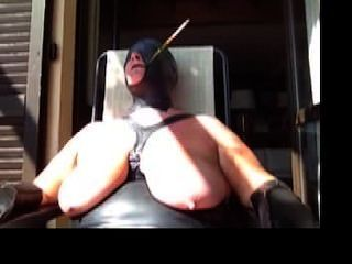 Bound In Public With Hood And Cigarette Holder