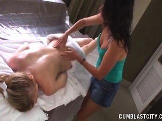 Cumshot On The Massage Table