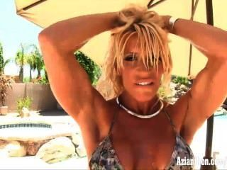 Fitness Milf Gets Wet And Naked Outdoors
