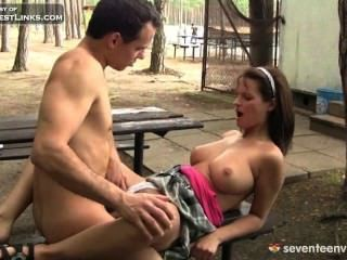 Busty Amber Lanced By Big Black Dick