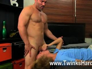 Gay Movie Beefy Brock Landon Might Be Straight, But When Youthful Blond