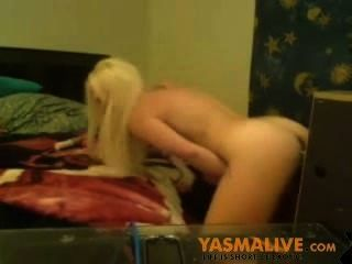 Blonde Dildo Machine Having Fun Webcam