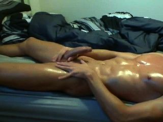 Me All Oiled Up And Muscled Cumming A Huge Load