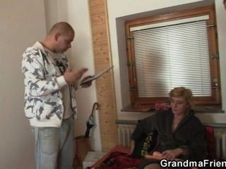 Sex Toys And Two Cocks For Naughty Grandma
