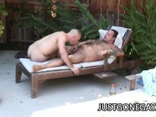 Park Wiley: Pool Guy And His Boss Outdoor Anal