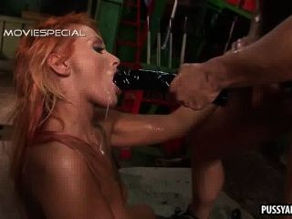 Tasty Redhead Hottie Getting Toyed And Fucked Hard