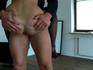 German Amateur Blonde Sucks Guy Flexible