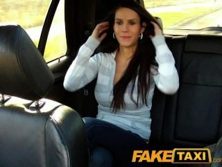 Faketaxi Hot Brunette With Great Big Swinging Tits