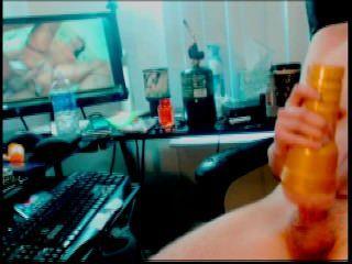 Big Cock Fucking Fleshlight On Webcam Show