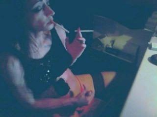 Ts Wanking And Smoking
