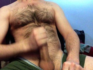 Blowing A Big Load On My Hairy Chest!