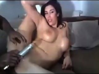 Girl Enjoys Black Cocks