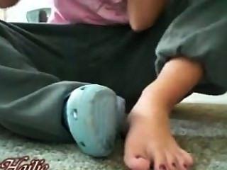Girl Self Toe Suck