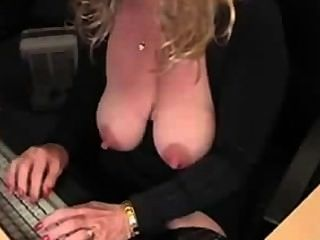 Big Boobs Mature Blonde Masturbate & Squirt