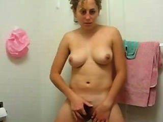 Young Busty Girl Strip And Finger Her Hairy Pussy