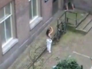 Shameless Teen Fucking Behind My Window