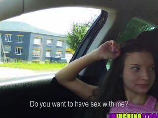 Superb Sexy Teen Anita Is Hitch Hiking And Gets Fucked In The Back Of The C