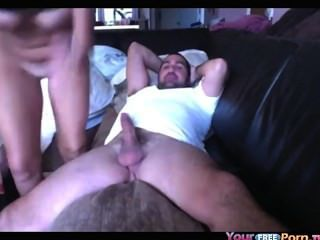 Busty Teen Bounces On Top Of Her Bf