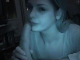 Girlfriend Swallow A Huge White Cock