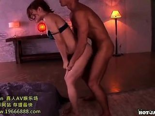 Japanese Girls Enchant Attractive Mother At Home.avi