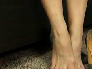 Mature Nylon Foot Tease