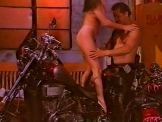 Tony Pounds Madison On A Bike!