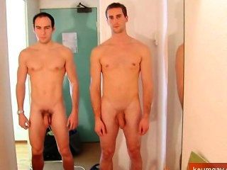 Straight Guys Horny In A Shower.