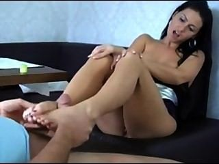 Footjob With Cum